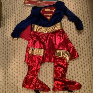 Supergirl halloween costume toddler girls 2t